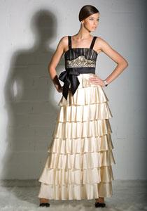 formal ruffled dress